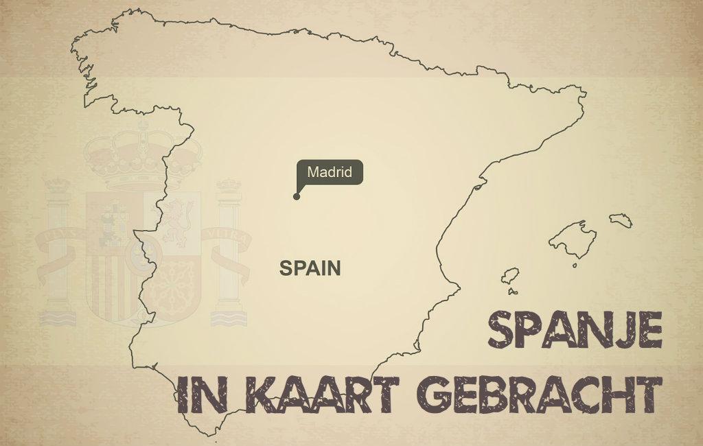 Spanje Met Deelstaten En Provincies In Kaart Gebracht
