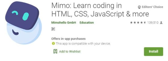 Mimo Learn coding in HTML, CSS, JavaScript