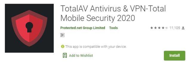 TotalAV Antivirus & VPN-Total Mobile Security 2020
