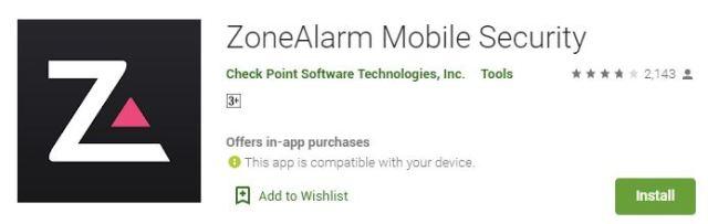 ZoneAlarm Mobile Security