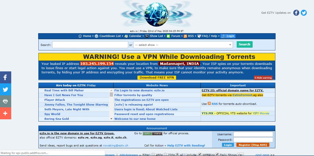 EZTV Proxy List and Best Working Alternatives EZTV Proxy and Unblocking