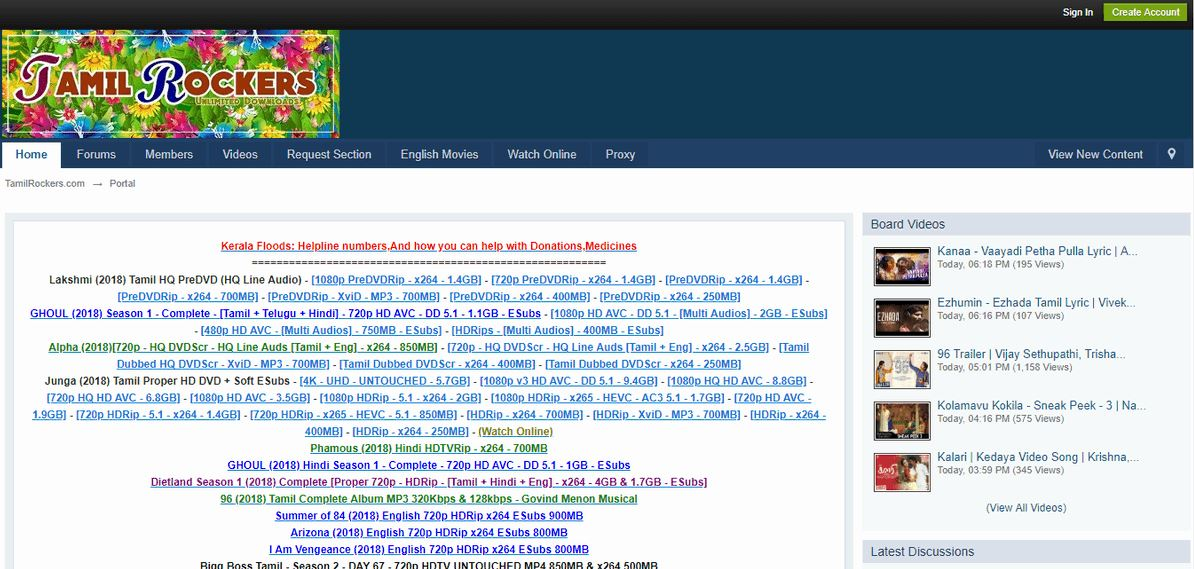 TamilRockers Watch Movies Online Proxy to Unblock TamilRockers