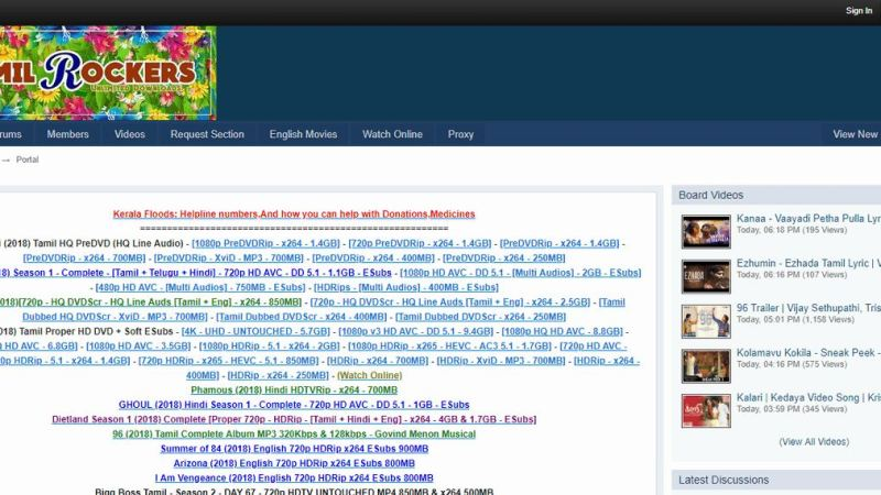 TamilRockers 2020 – Download Latest HD Dubbed Movies Online