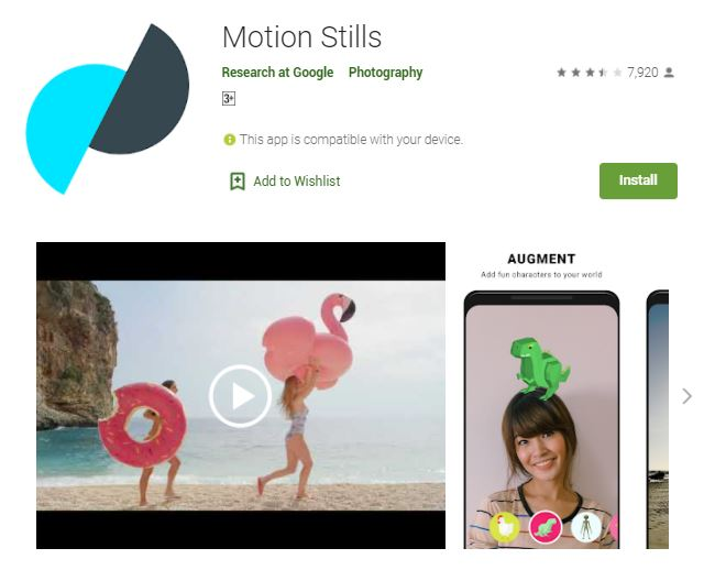 Motion Still for Android