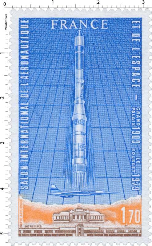 Timbre  SALON INTERNATIONAL DE LARONAUTIQUE ET DE LESPACE GRAND PALAIS 1909 LE BOURGET 1979