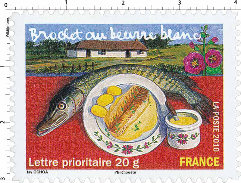 Timbre  2010 Brochet au beurre blanc  WikiTimbres