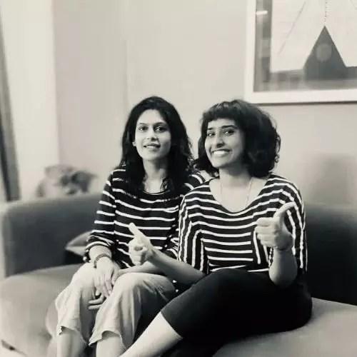 Palki Sharma Upadhyay with Sister