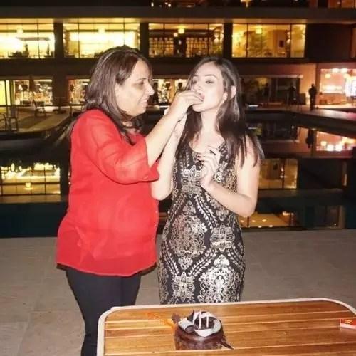 Simaran Kaur with Mother