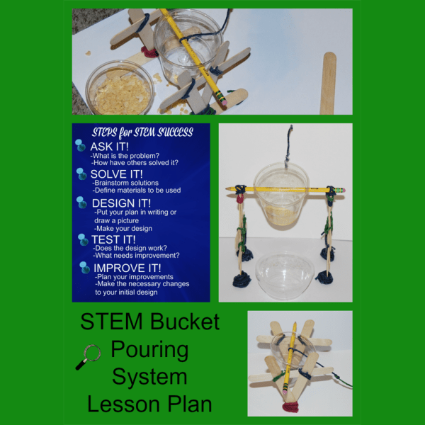 Stem Challenge Kids Bucket Pouring System Lesson Plan