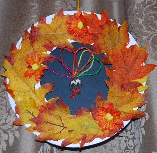 no glue fall wreath