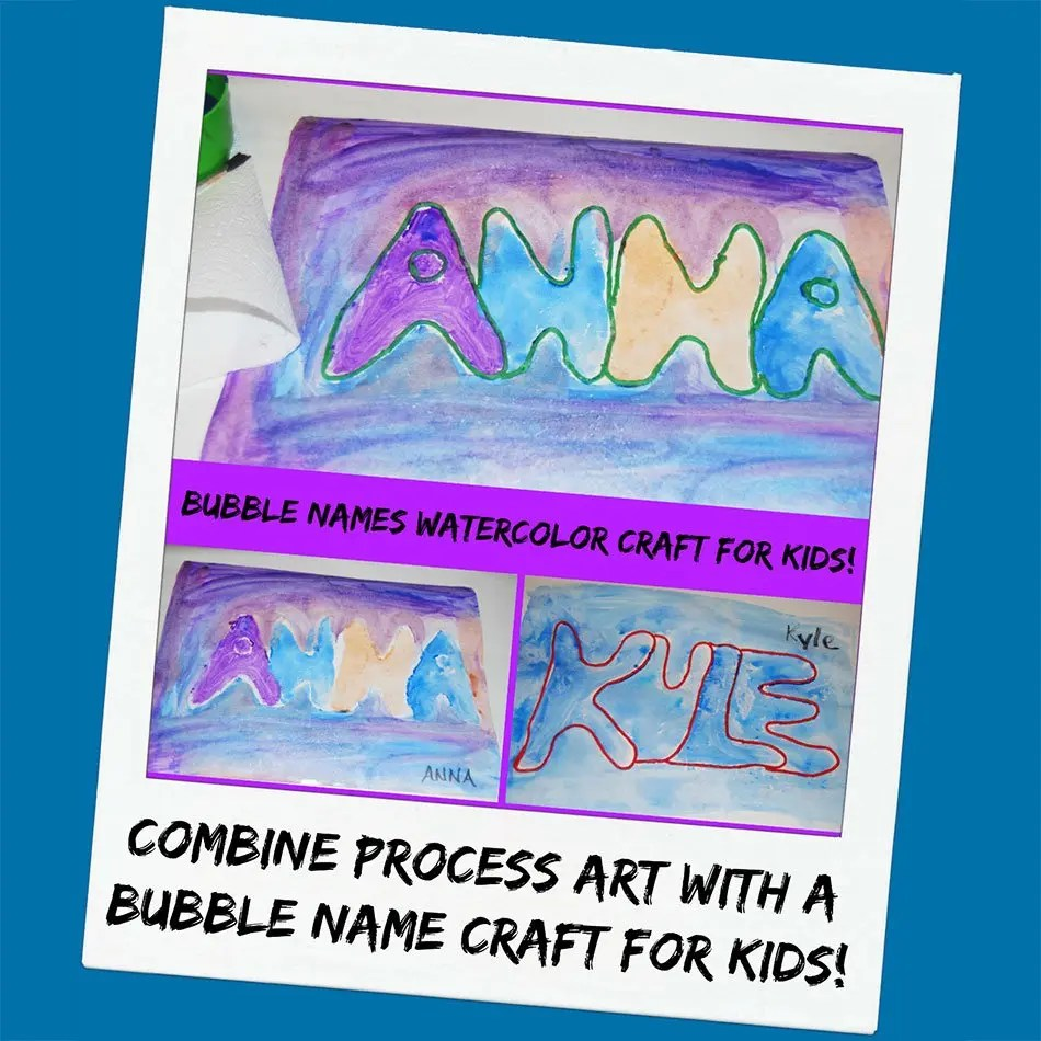 Process Art And Crafting Retro Bubbled Name Activity For Kids Wikki Stix