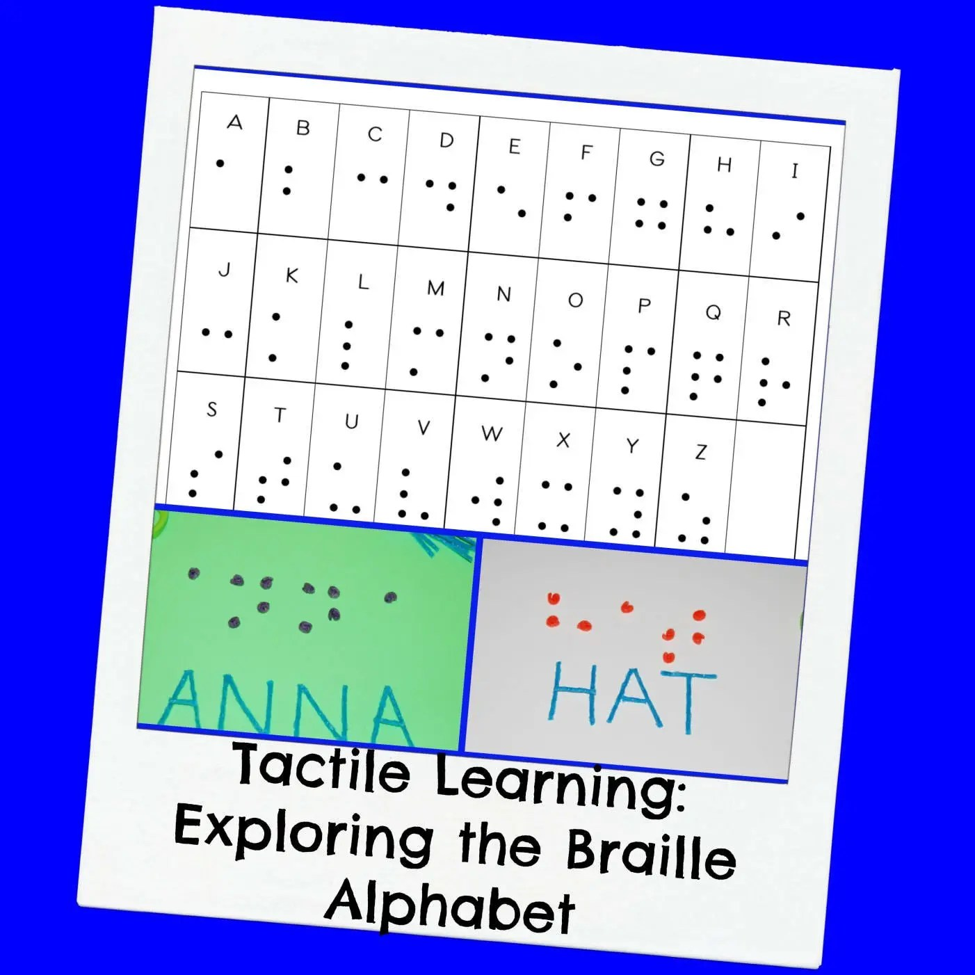 Braille Alphabet For Kids