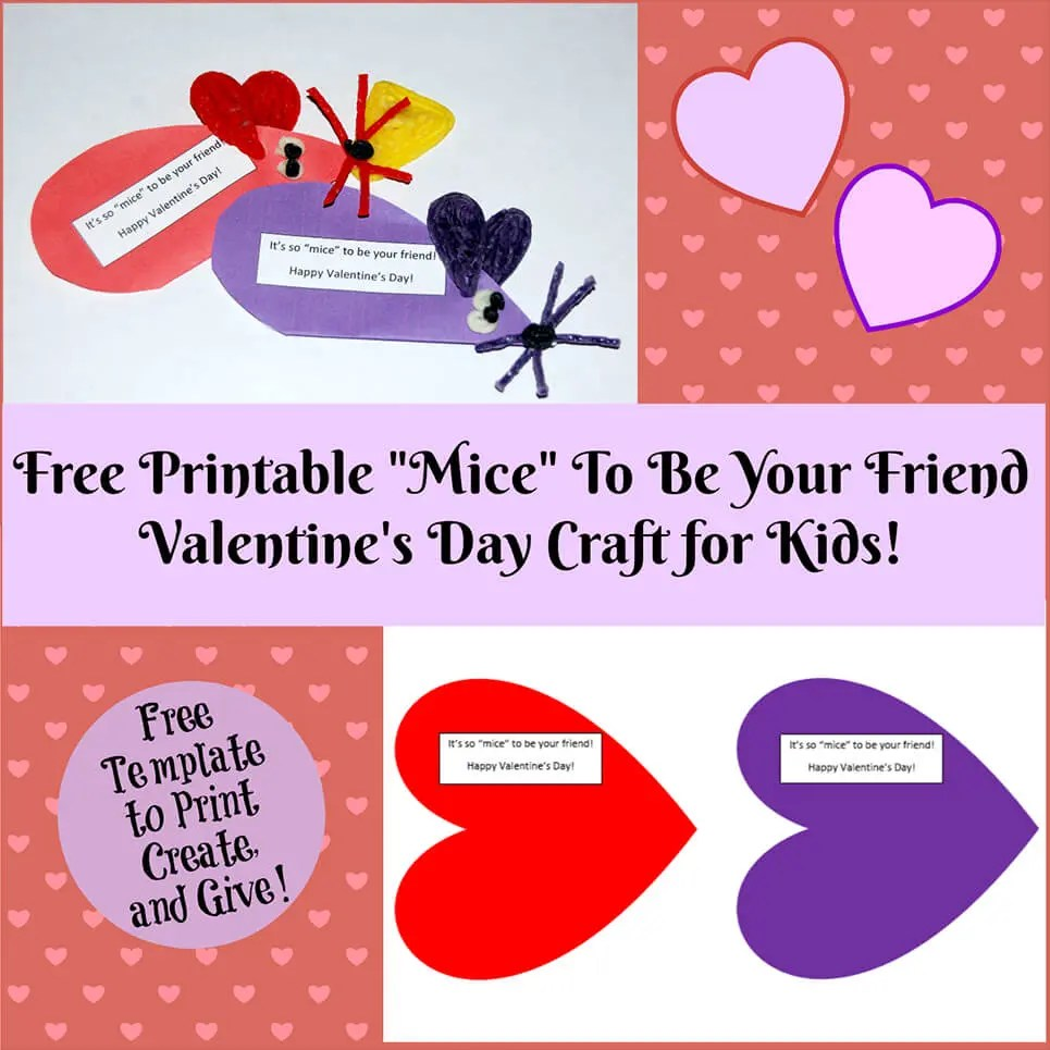 Valentine's Day Printable Card Crafts For Kids To Create!