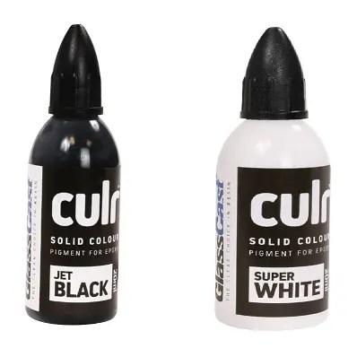 Färgämne till epoxy Opakt (Svart och vitt)