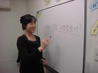 韓国語講座 ある日のレッスン風景