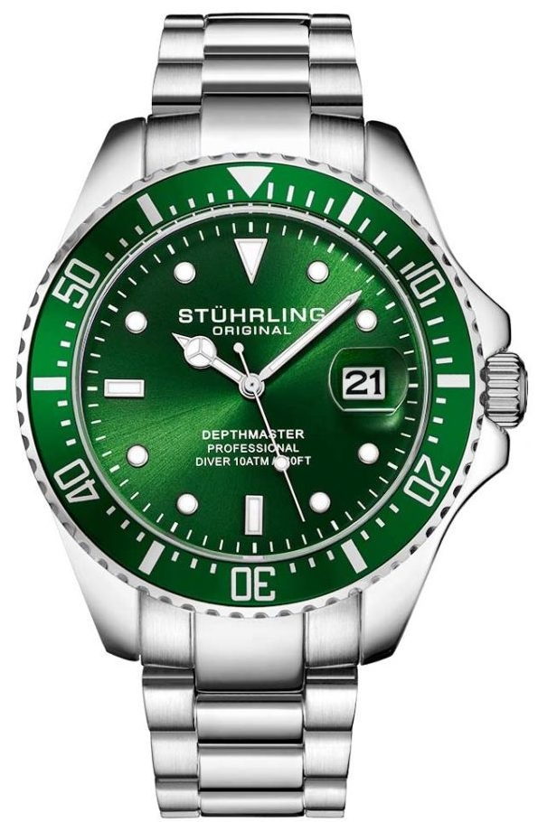 Men's Watches - Retail: R6.999.00 STUHRLING ORIGINAL® Men's DEPTHMASTER Emerald Green Watch BRAND NEW was sold for R1.400.00 on 28 Jun at 21:16 ...