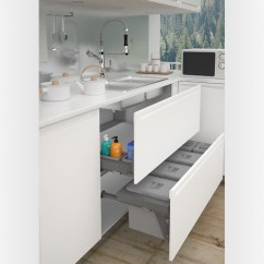 Blum Kitchen Bins Wooden Table Sets Wilson Bradley Sige Under Sink Waste Bin Width 1200mm Orion Grey 15l X 3 6l 2 57l With Drawer Slides