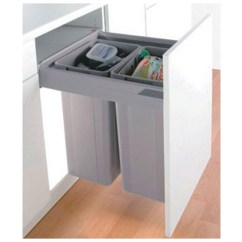 Blum Kitchen Bins Space Saving Tables Wilson Bradley Wesco Pull Boy Waste Bin 64lt 2 X 32lt In Plastic Suits 500mm Cabinet