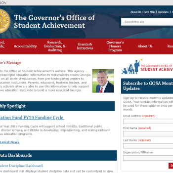 The Governor's Office of Student Achievement