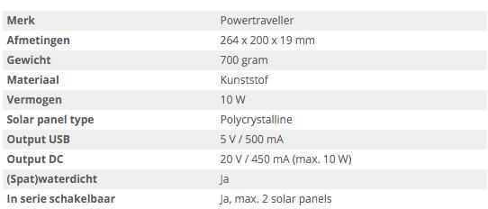 specificaties solargorilla