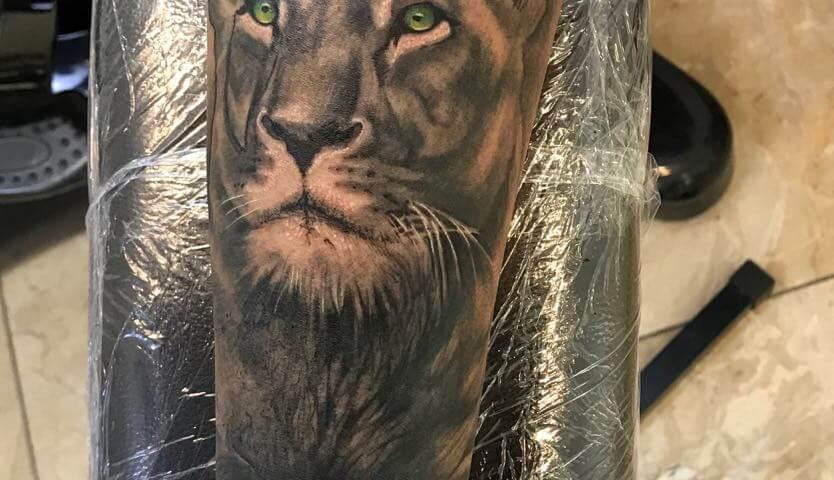 Ljubica Wild Spirit Hamen Löwen Tattoo