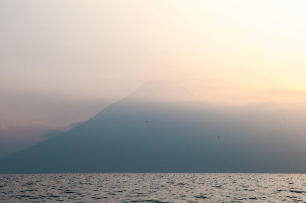 Vulkan San Pedro im Sonnenuntergang