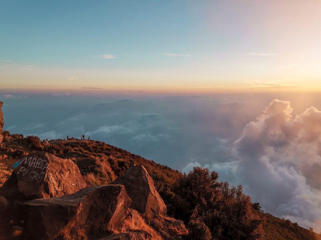 Vulkan Santa Maria Sonnenuntergang