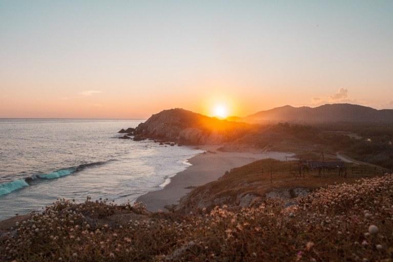 Mexiko Sonnenuntergang Auswandern