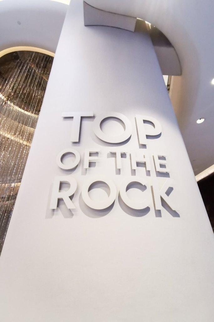 Top of the Rock Schriftzug