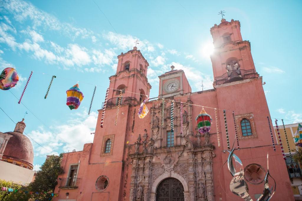 Guanajuato in Mexiko Kolonialkirche