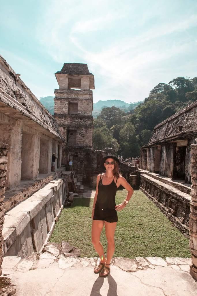 Im Palacio in Palenque in Mexiko