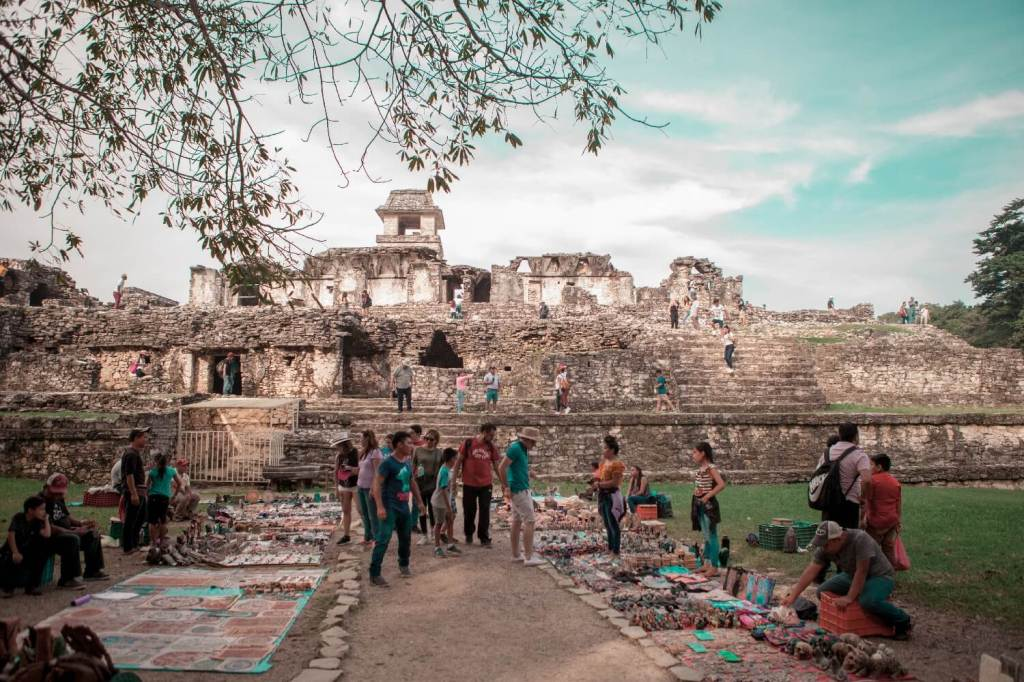 Verkaufsstände in Palenque