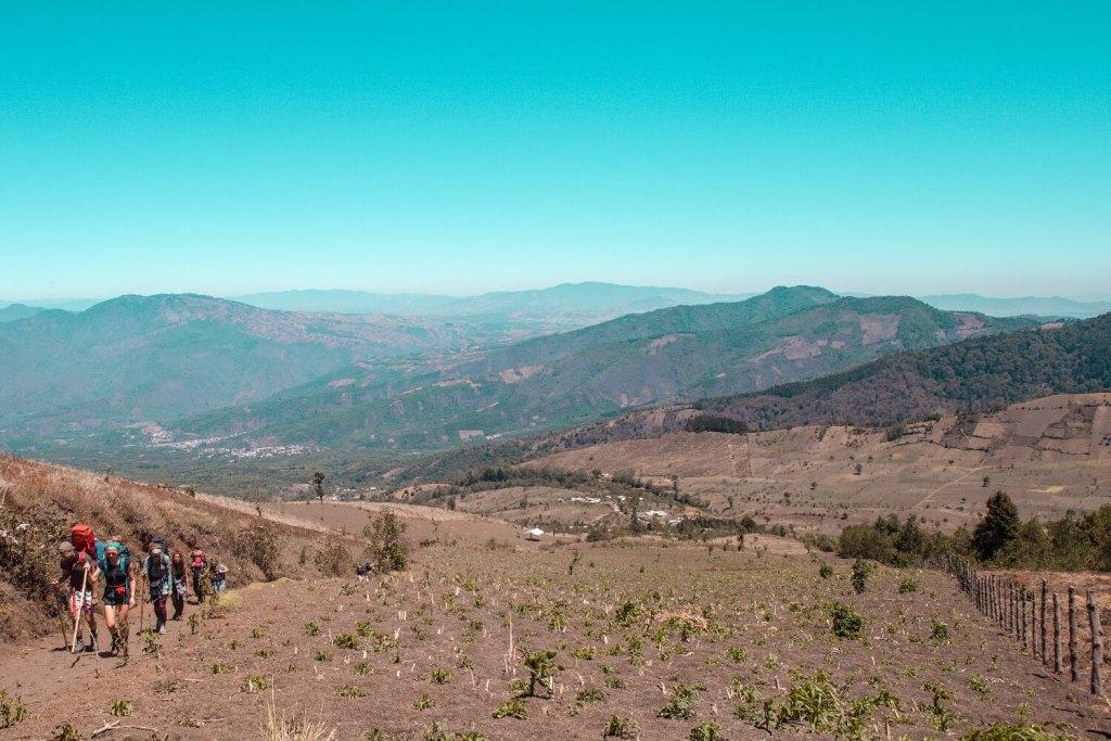 Vulkan Acatenango heißer Aufstieg