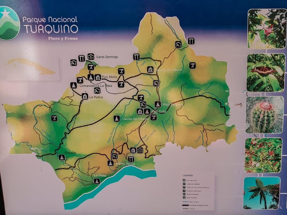 Karte der Sierra Maestra