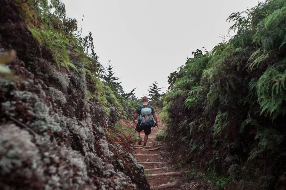 Abstieg vom Berg