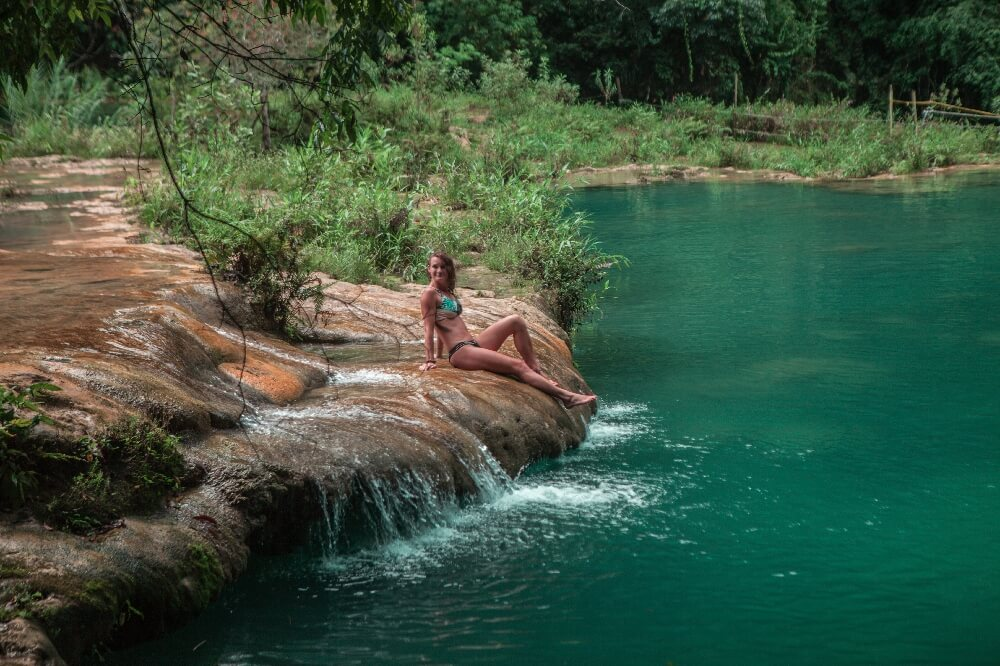 Grüne Wasserbecken in Semuc Champey