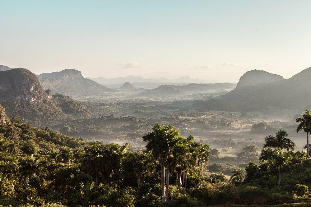 Panorama in Vinales in Kuba