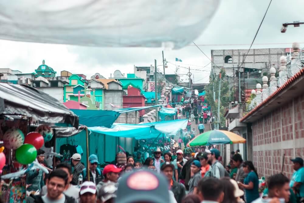 Drachenfest in Guatemala Gasse