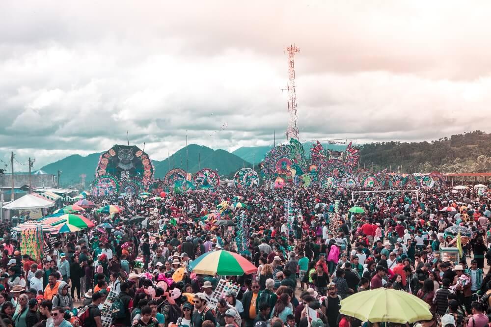 Drachenfest in Guatemala Gelände