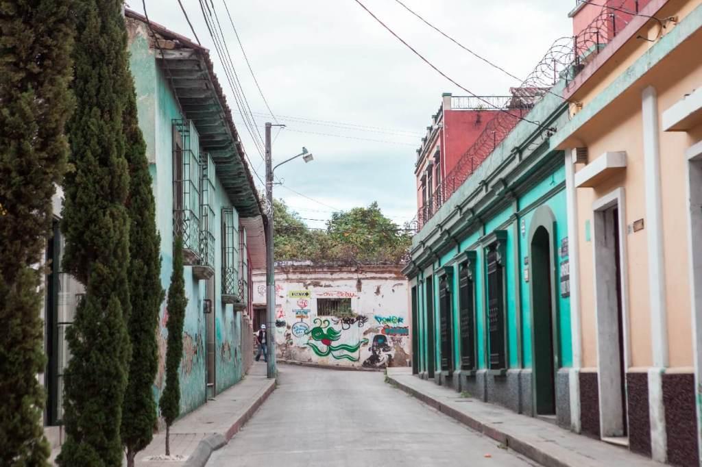 Quetzaltenango in Guatemala bunte Straße