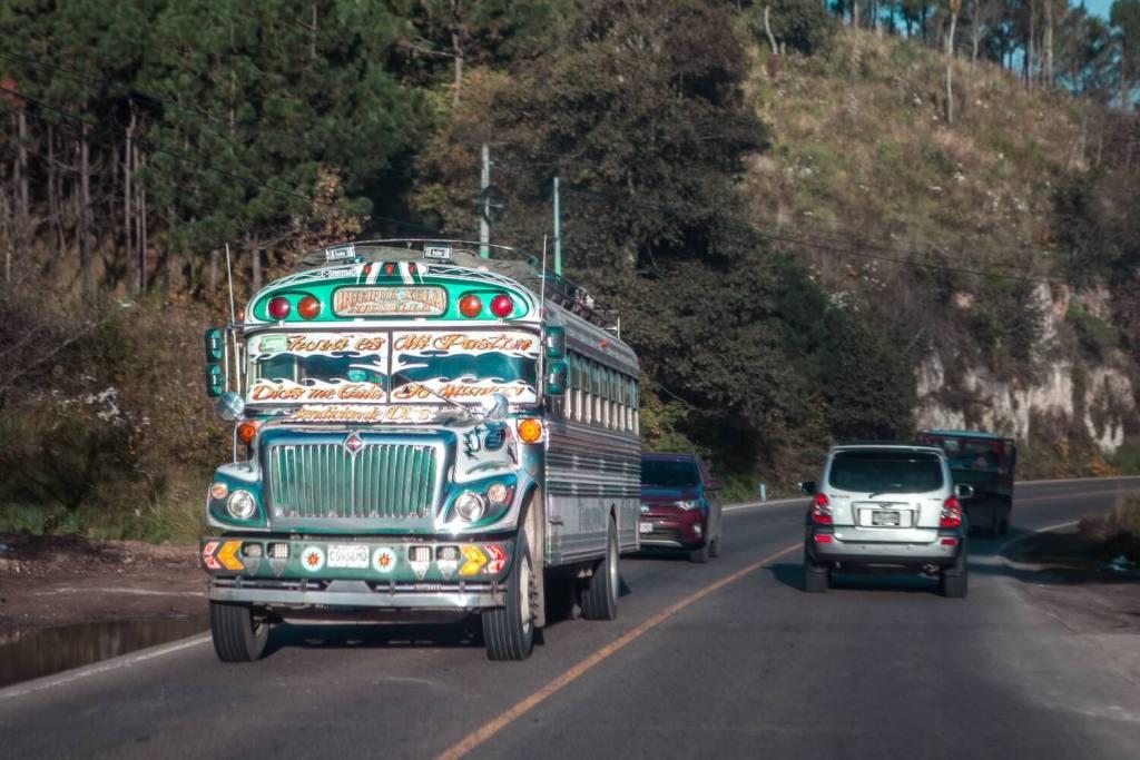 Chickenbus bei Quetzaltenango