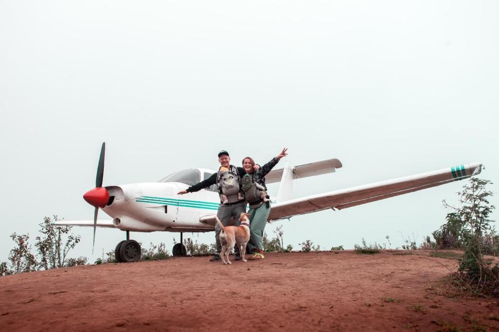 Flugzeug bei Altamira