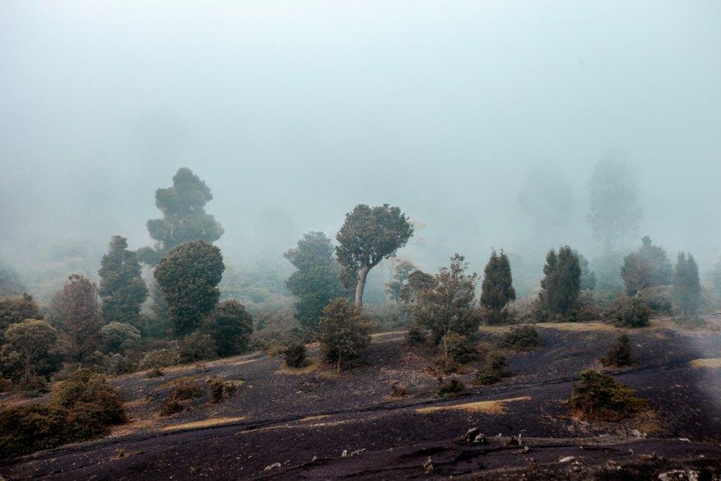 Regenzeit in Guatemala Pacaya
