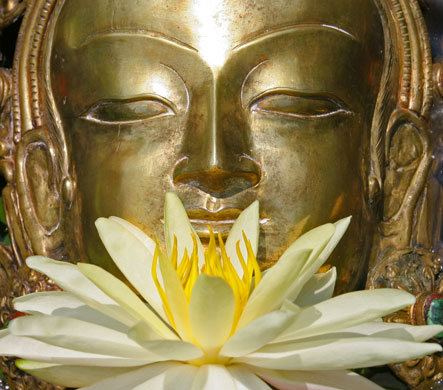 Golden Buddha created and donated by Charles Wildbank