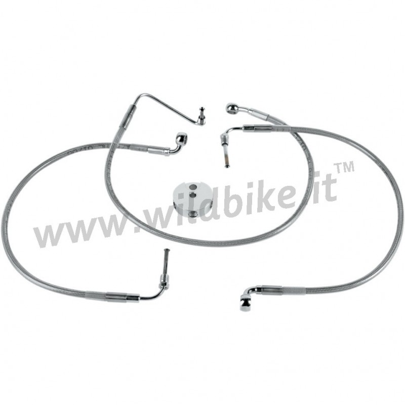 TUBE FRONT BRAKE LINE KIT STEEL AIRCRAFT FOR HARLEY