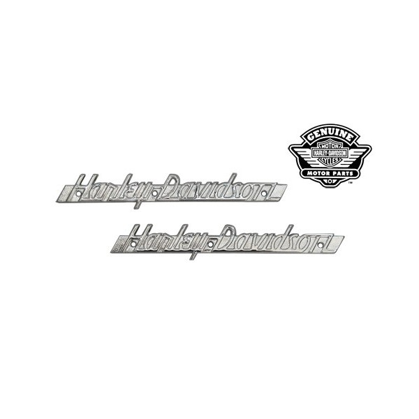 EMBLEMS GAS TANK 61774-51 WITH CHROME LETTERING HARLEY