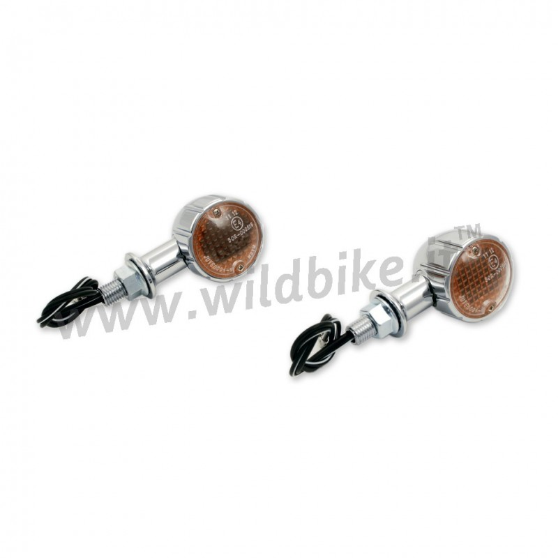 TURN SIGNALS TECHGLIDE CHROME FOR CUSTOM MOTORCYCLE AND HARLEY
