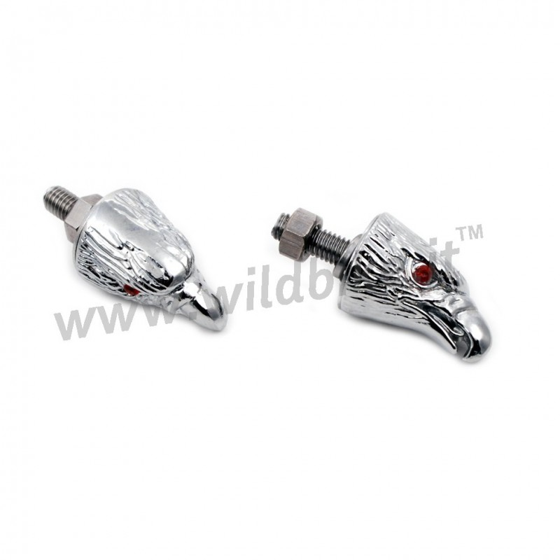 DECORATIVE NUT SCREW WITH CHROME EAGLE HEAD CUSTOM BIKE TUNING