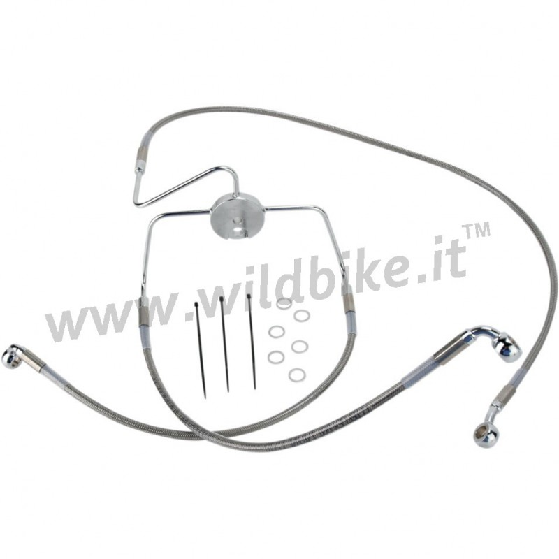 TUBE FRONT BRAKE LINE KIT STEEL AIRCRAFT EXTENDED +8