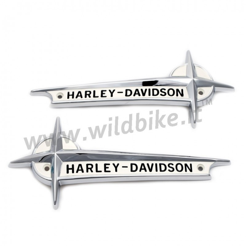 EMBLEMS GAS TANK 61776-61T WITH CHROME LETTERING HARLEY